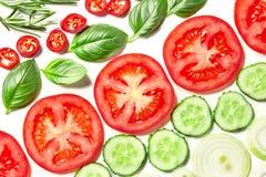 Ingredientes vegetales de la ensalada Imagenes de archivo