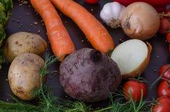 Ingredientes vegetales nutritivos Imagen de archivo