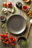 Ingredientes y especias para cocinar Imagen de archivo libre de regalías