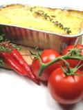 Ingredientes y plato del horno Fotos de archivo
