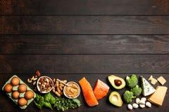 Ingredienti alimentari di dieta del cheto immagine stock libera da diritti