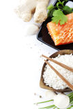 Ingredienti asiatici tradizionali Fotografia Stock