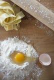 Ingredienti casalinghi della tagliatella Fotografia Stock Libera da Diritti