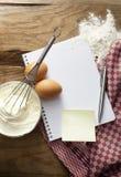 Ingredienti: Cuocere Fotografia Stock Libera da Diritti