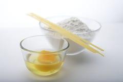 Ingredienti degli spaghetti Fotografia Stock