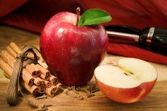 Ingredienti del grafico a torta di Apple Immagine Stock Libera da Diritti