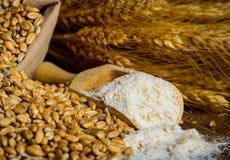 Ingredienti del grano di fresatura fotografia stock