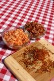 Ingredienti del Jambalaya di Cajun Fotografie Stock
