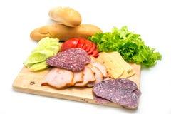 Ingredienti del panino Fotografie Stock Libere da Diritti