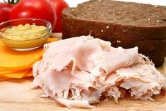 Ingredienti del panino di Turchia fotografie stock