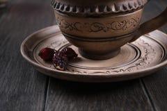 Ingredienti del tè delle rose dell'anca immagini stock