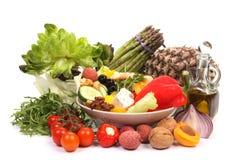 Ingredienti dell'insalata Fotografia Stock Libera da Diritti