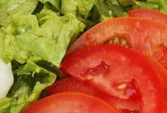 Ingredienti dell'insalata immagini stock