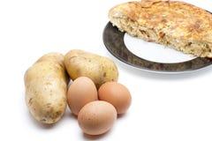 Ingredienti dell'omelette Fotografia Stock Libera da Diritti