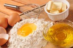 Ingredienti della crosta. Fotografia Stock