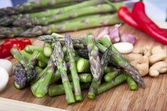 Ingredienti della frittura di Stir Fotografia Stock