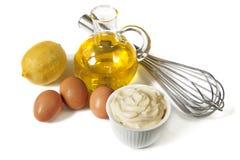 Ingredienti della maionese Fotografia Stock