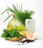 Ingredienti della maionese Fotografie Stock