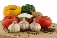 Ingredienti della minestra Fotografie Stock