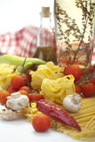 Ingredienti della pasta Immagine Stock Libera da Diritti