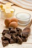 Ingredienti della torta Immagine Stock