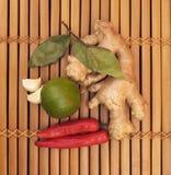 Ingredienti di alimento asiatici Immagini Stock