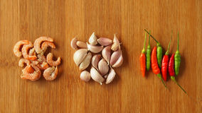 Ingredienti di alimento tailandesi Immagine Stock Libera da Diritti