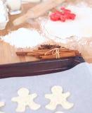 Ingredienti di cottura per la pasticceria ed il tuffatore dello shortcrust fotografia stock