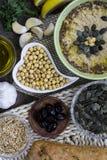 Ingredienti di hummus Cucina del Medio-Oriente Alimento sano Homema Immagine Stock Libera da Diritti