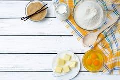 Ingredienti di ricetta della pasta Immagini Stock Libere da Diritti