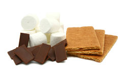 Ingredienti di Smores immagini stock