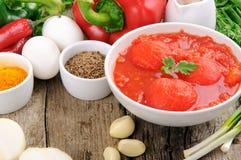 Ingredienti differenti per la cottura dell'alimento sano Fotografia Stock