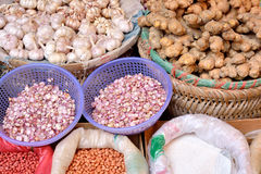 Ingredienti e conserva di vegetali Fotografia Stock Libera da Diritti