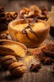 Ingredienti e spezie di cottura Fotografie Stock Libere da Diritti
