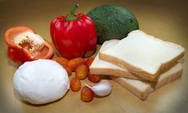 Ingredienti freschi del sandvich Immagine Stock Libera da Diritti