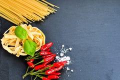 Ingredienti freschi della pasta Immagini Stock Libere da Diritti