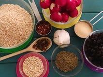 Ingredienti freschi delle erbe e della spezia immagine stock