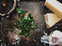 Ingredienti freschi flatlay Immagini Stock