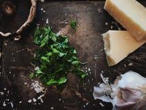 Ingredienti freschi flatlay Fotografie Stock Libere da Diritti