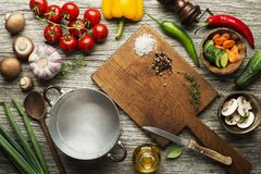Ingredienti freschi per la cottura del pasto Fotografia Stock Libera da Diritti