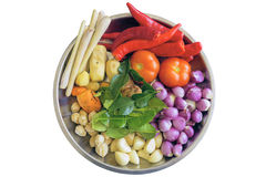 Ingredienti freschi per la cottura della salsa di curry Immagini Stock