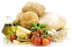 Ingredienti freschi per un pranzo italiano Fotografia Stock Libera da Diritti