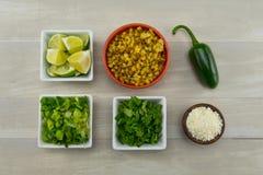 Ingredienti messicani del cereale della via Fotografia Stock Libera da Diritti