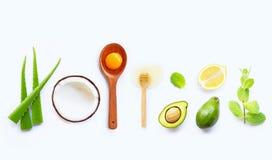 Ingredienti naturali per cura di pelle casalinga immagine stock libera da diritti