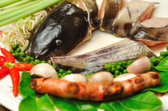 Ingredienti per alimento tailandese Fotografie Stock