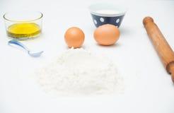 Ingredienti per cucinare Fotografie Stock Libere da Diritti