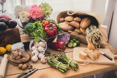 Ingredienti per cucinare Fotografie Stock