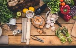 Ingredienti per cucinare Immagine Stock