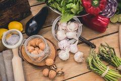Ingredienti per cucinare Fotografia Stock Libera da Diritti