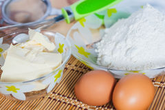Ingredienti per cuocere Immagini Stock Libere da Diritti